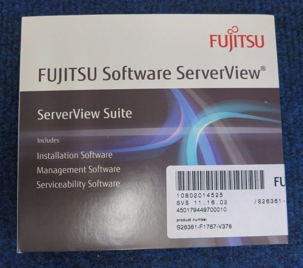 Fujitsu ServerView Suite DVD Management Serviceability - S26361-F1767-V378
